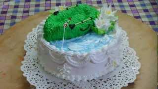 видео Заказать торт рыбаку на день рождения. Торт «На юбилей рыбаку»