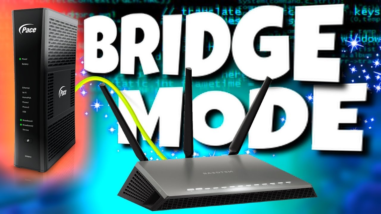 Gateway Bridge Mode Router Setup Att Pace 5268ac Youtube Home Networking Pfsense Motorola Cable Modems Dlink Routers And