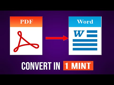 How To Convert pdf to word without software| 2018