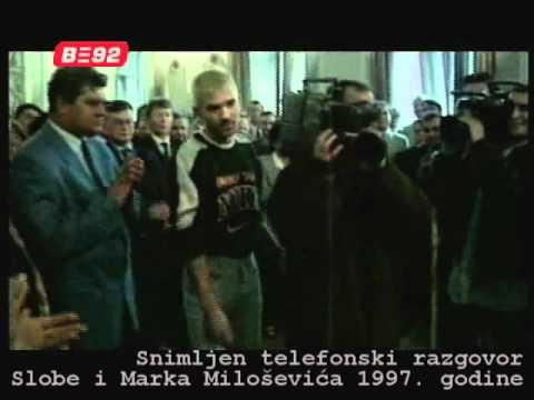 Sloba i Marko Milosevic - telefonski razgovor `97.