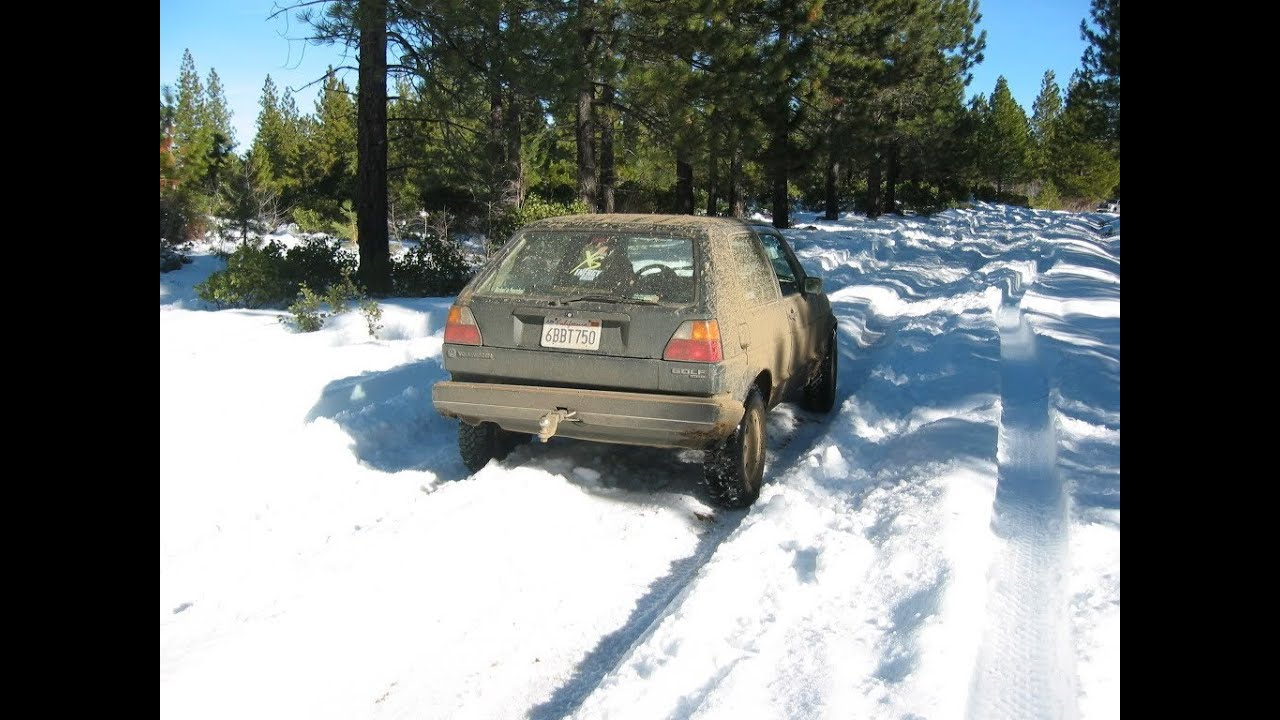 lifted vw tdi golf ii in deep snow 2 off road winter fun. Black Bedroom Furniture Sets. Home Design Ideas