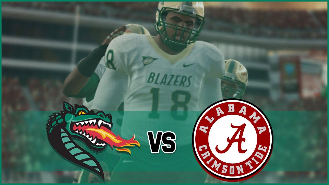 945d673a2 NCAA Football 14 UAB Blazers Dynasty- Year 2 Game 2 at  1 Alabama Crimson  Tide - YouTube