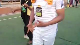 Fred Amata victory dance