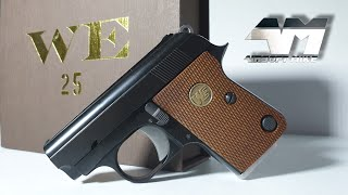 WE CT25 / COLT JUNIOR 25 ACP Gas Blowback / Airsoft Unboxing Review