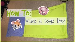 How to: cage liner/lap pad │Alexandriasanimals