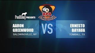 2018 APA 8-Ball Classic Finals - Ernesto Bayaua VS Aaron Greenwood - Purple Tier
