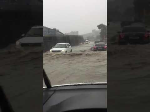 Утонуло Сухумское шоссе Новороссийска