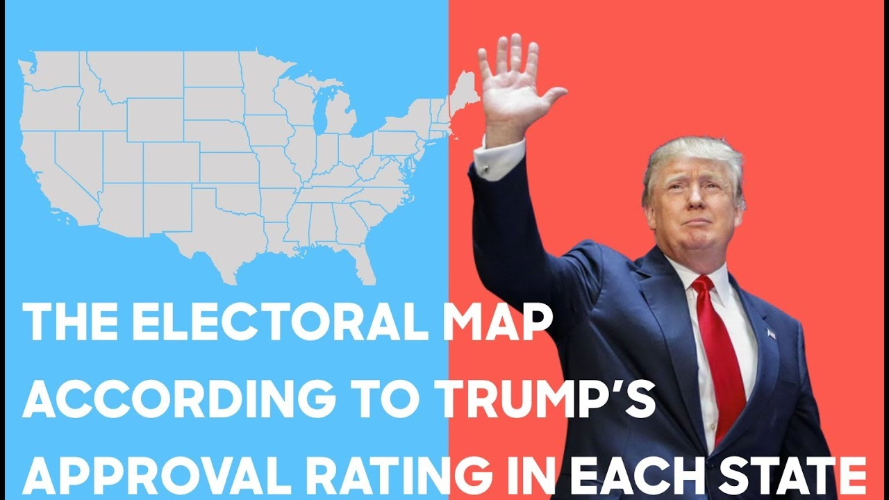 The Electoral Map According To Donald Trump S Approval Ratings Youtube