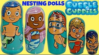 *NEW* BUBBLE GUPPIES Nesting Dolls, Stacking Cups With Toys, Bubble Puppy, Mr. Grouper / TUYC