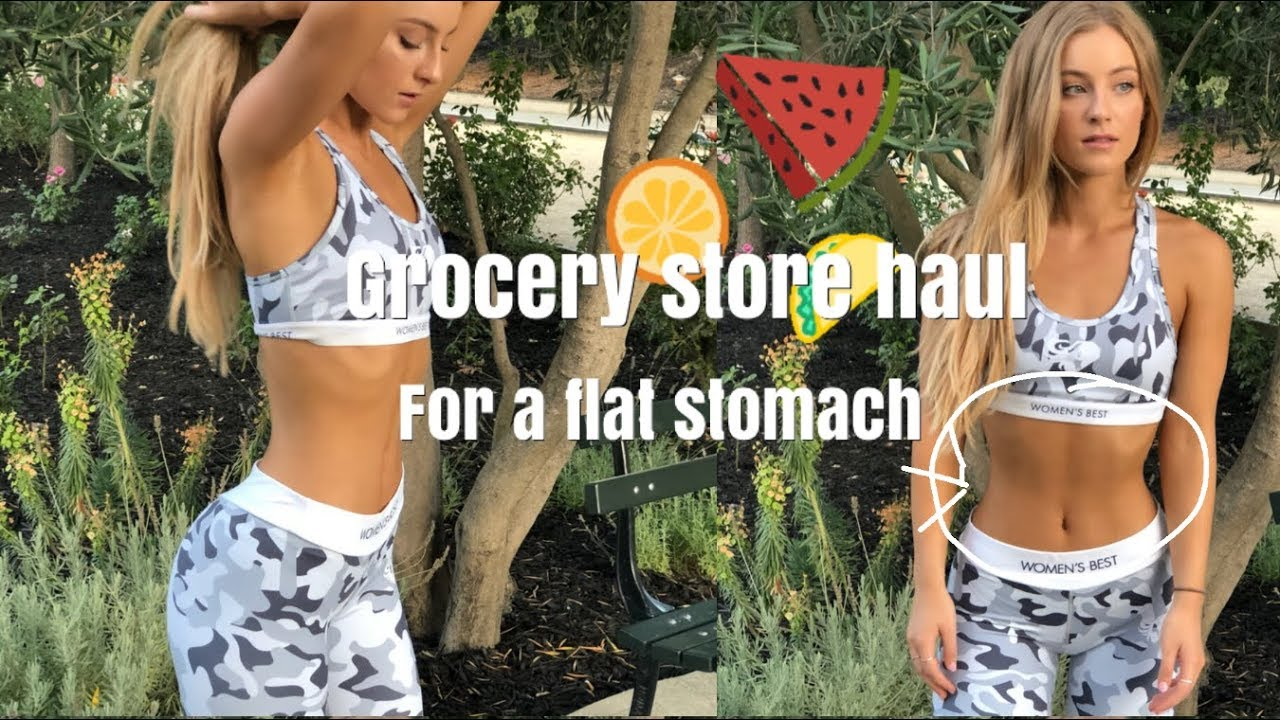 EATING FOR A FLAT STOMACH! grocery store haul | DAISYKEECH