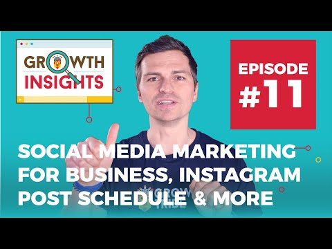 Social Media Marketing for Business, Instagram post schedule