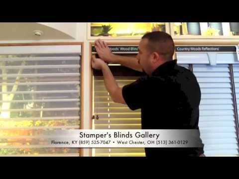 "How to Remove and Reinstall a Hunter Douglas 2"" Wood Blind"