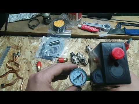 Сборка автоматики для китайского компрессора