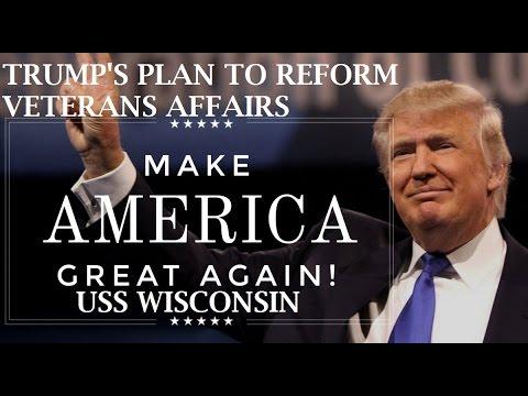 Donald Trump Plan To Reform Veterans Affairs - Trump Norfolk Rally