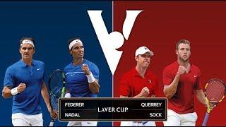 【テニス】フェデラー/ナダル組vsソック/クエリ―組 レバーカップ2017
