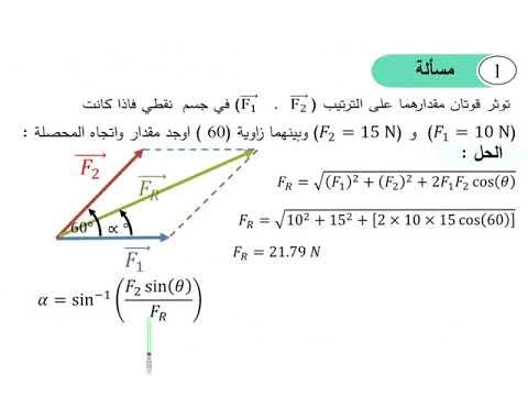 مسائل عن المتجهات في الفيزياء pdf