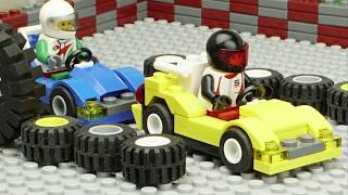 Lego Go Kart Race Challenge, Lego Movie 2, Emmet & Lucy, Kids, Brickfilm, JS Animations, Stop Motion