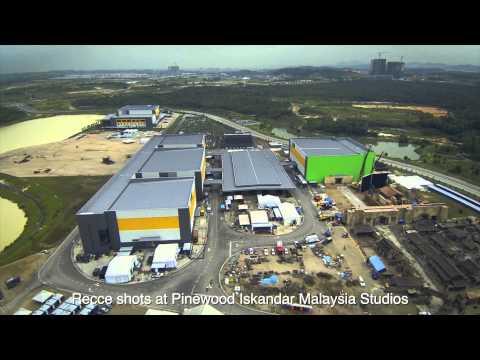 Pinewood Studios recce shots with Phantom2 H3-3D