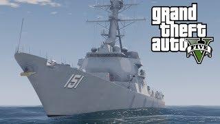 GTA Pilotable US Destroyer / Warship Nathan James (Who needs Gunrunning anyway?)
