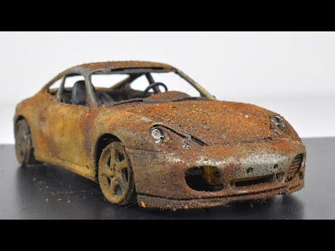 Restoration Abandoned Porsche 911 Carrera 4S Model Car