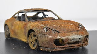 Restoration Abandoned Porsche 911 Carrera 4S Model Car