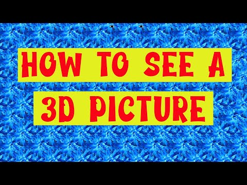How To See A Magic Eye Picture!