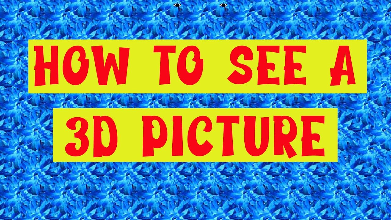 How To See A Magic Eye Picture Youtube