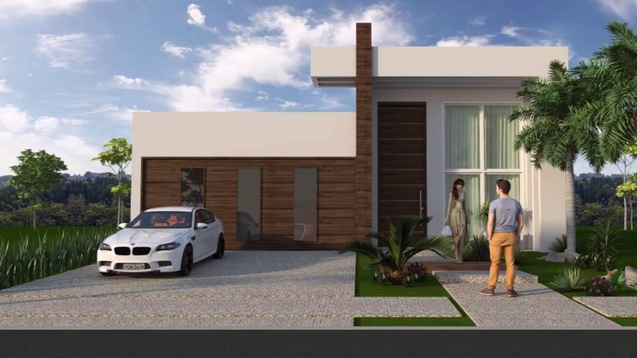 Modelos de faixadas de casas decora 30 modelos incrveis for Casas modernas acogedoras