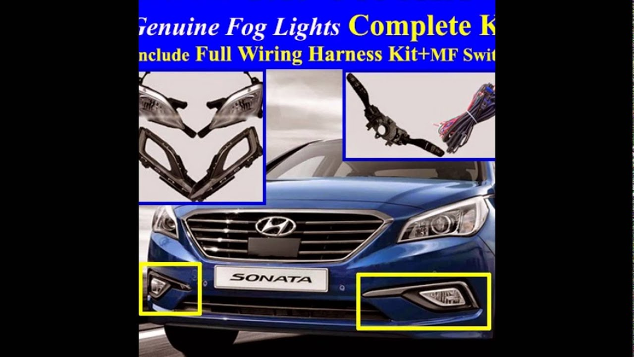 2015 hyundai sonata fog light lamp complete kit full