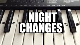 Night Changes - One Direction | Easy Keyboard Tutorial With Notes (Right Hand)