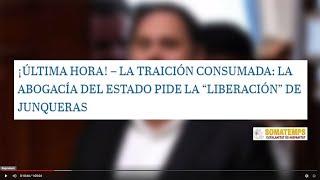EMR: Vox denuncia que la traición de Sánchez es oficial:Abogacía del Estado pide liberar a Junqueras