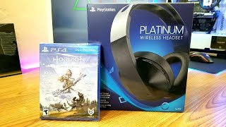Playstation Platinum Wireless Headset Unboxing, Setup, and Mic Test