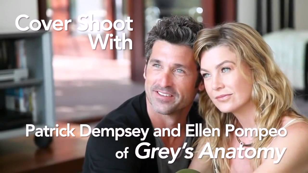 Cover Shoot With Greys Anatomy Ellen Pompeo And Patrick Dempsey