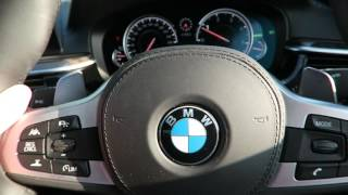 BMW 5 series technology and Interior with active cruise control