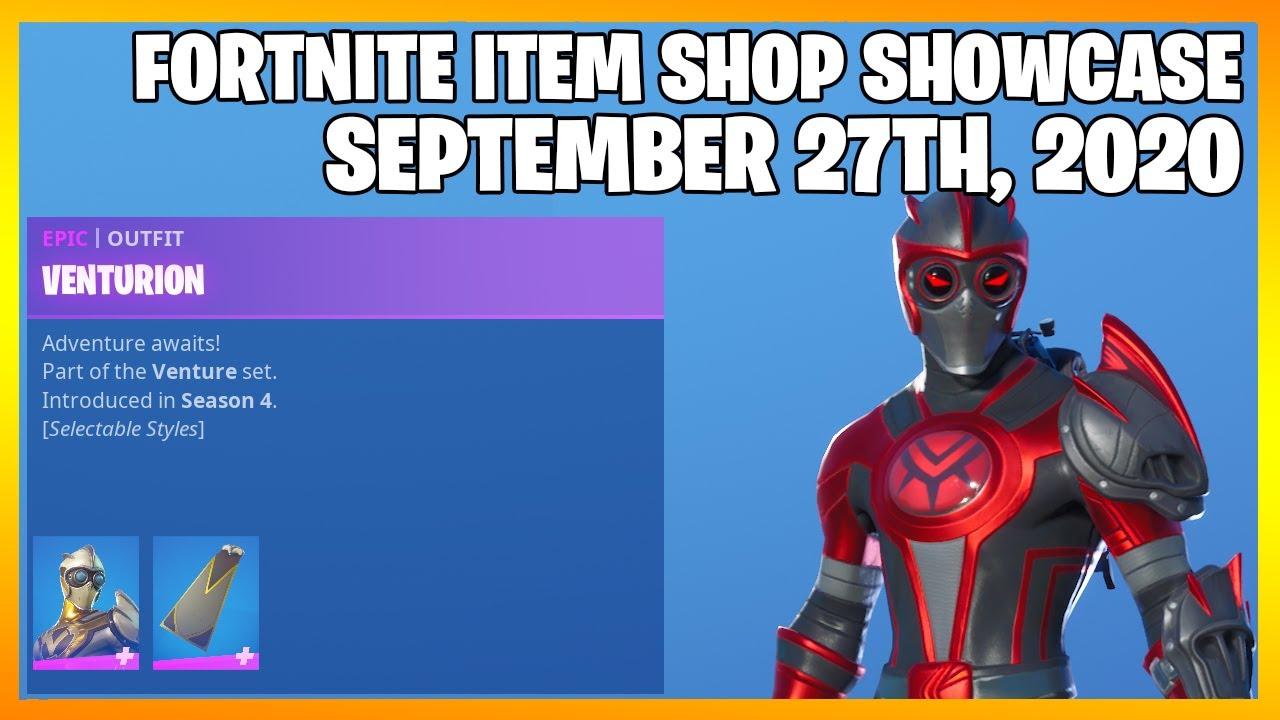 Fortnite Item Shop *NEW* VENTURION EDIT STYLES! [September 27th, 2020] (Fortnite Battle Royale)