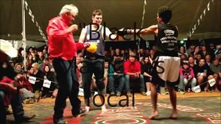George Sonio fights local - Outback Fight Club - Birdsville 2015