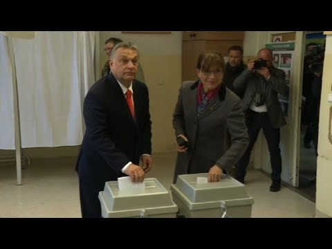Orban votes in Hungarian election