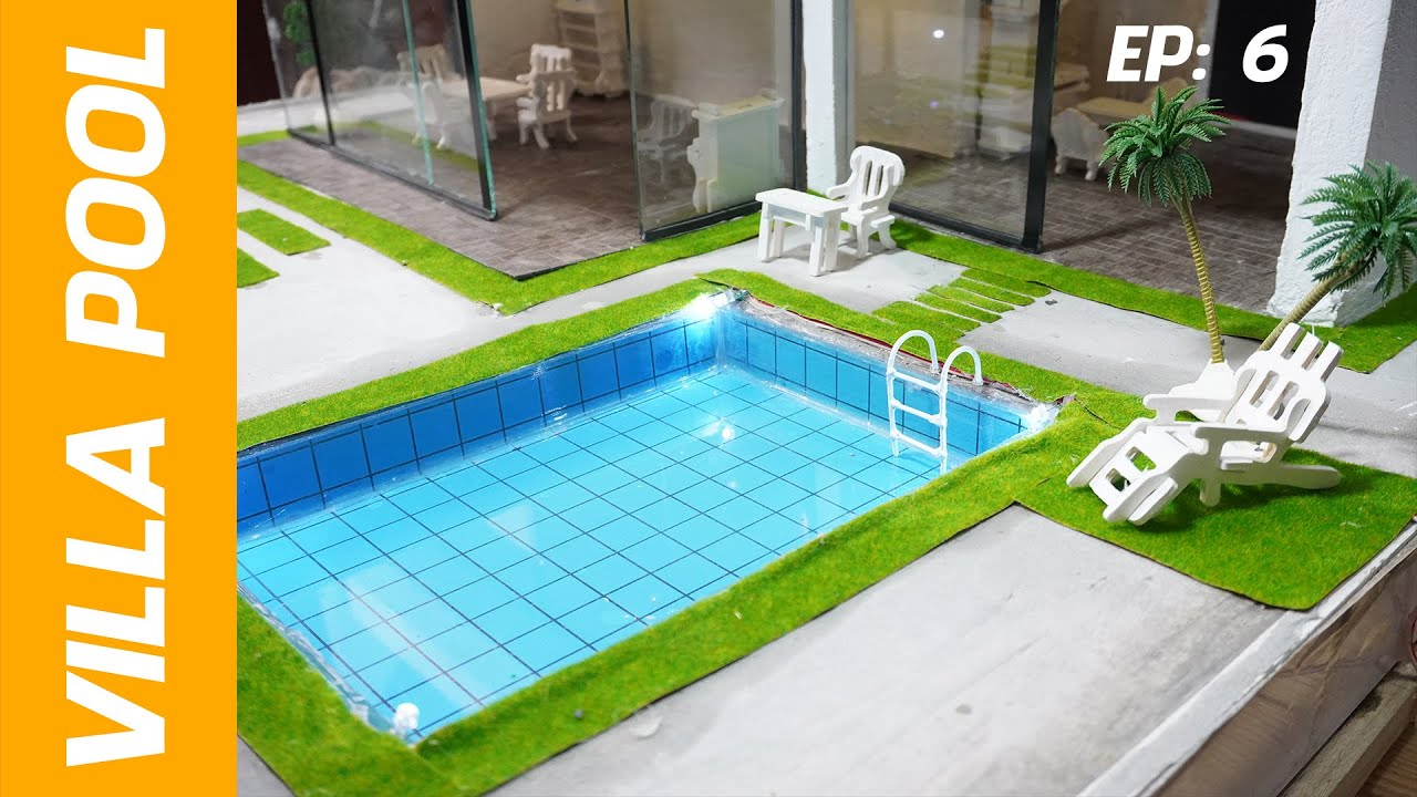 How To Build Mini Swimming Pool Mini Mansion Step By Step Youtube