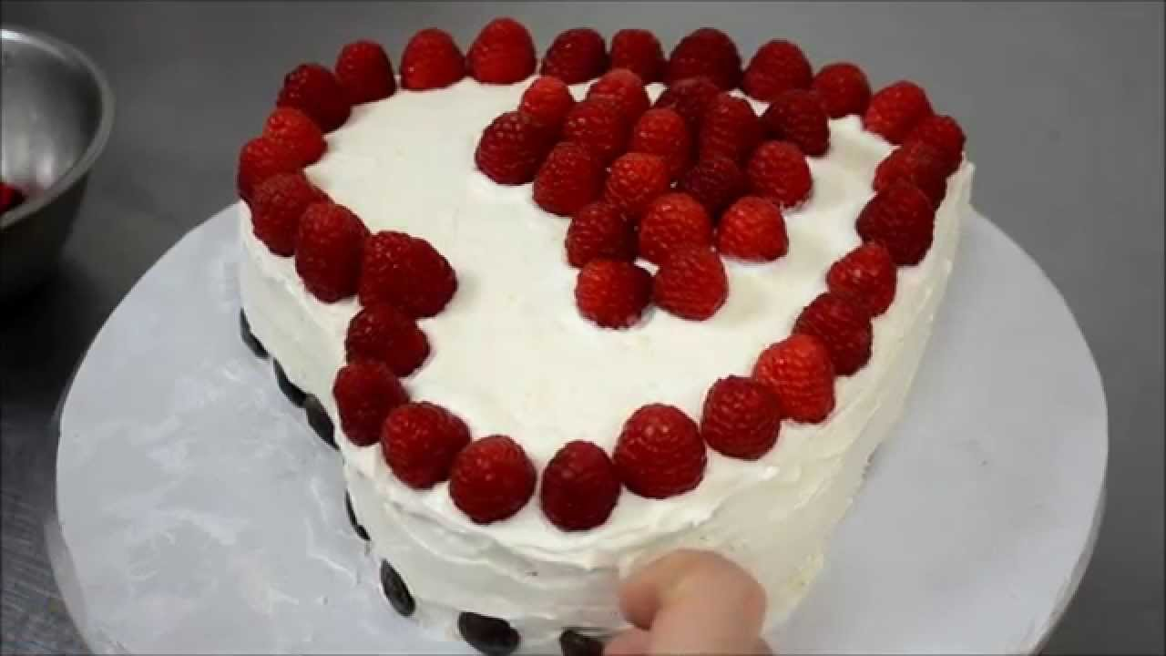 How to make heart cake without a Heart shape pan - YouTube