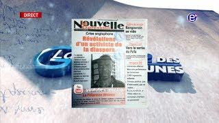 LA REVUE DES GRANDES UNES DU VENDREDI 28 DÉCEMBRE 2018 - ÉQUINOXE TV