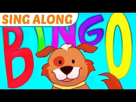 Смотреть видео Bingo Song With Lyrics The Dog Nursery Rhyme Sing Along For Kids Readalong онлайн скачать на мобильный