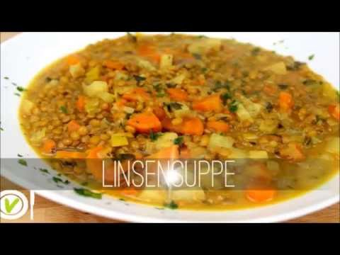 ABNEHMEN Rezept: LINSENSUPPE  Hauptmahlzeit  VEGAN