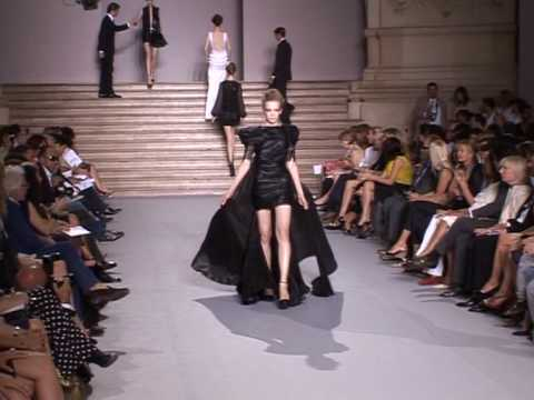 French designer Stephane Rolland kicks off sombre fashion shows