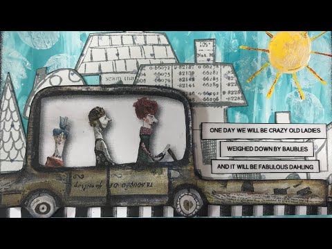 'Trade It' Week 2 - Mixed Media Postcards For The Swap In Nina Ribena's AJP & More