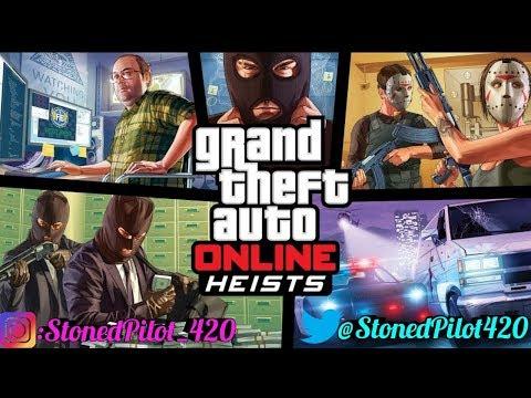 Grand Theft Auto 5 Online Heists w/StonedPilot420 Interactive Streamer Road To 900 Sub