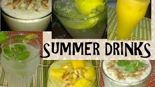 Summer Drinks at Home|summer coolers Recipes|Summer Cold Drinks with Mango /Lime/Yogurt or Dahi
