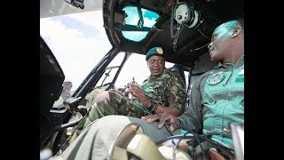 Uhuru Kenyatta Tours EXHIBITIONS at the GILGIL KDF DAY 2018!!!