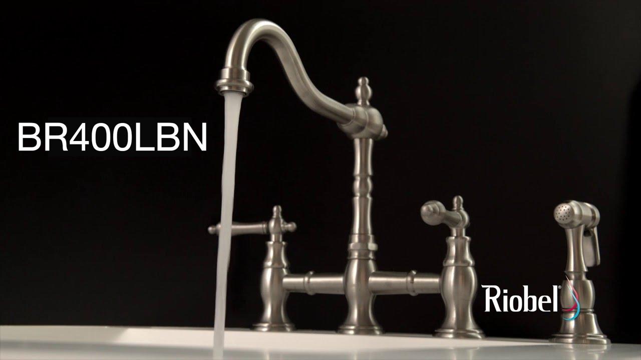 Riobel Bridge kitchen faucet / robinet de cuisine bridge BR400LBN ...