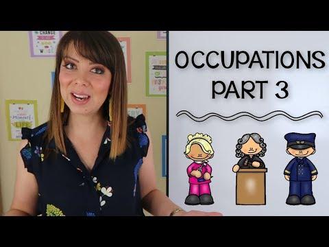 VOCABULARIO DE PROFESIONES EN INGLES - PARTE 3 | JOBS AND