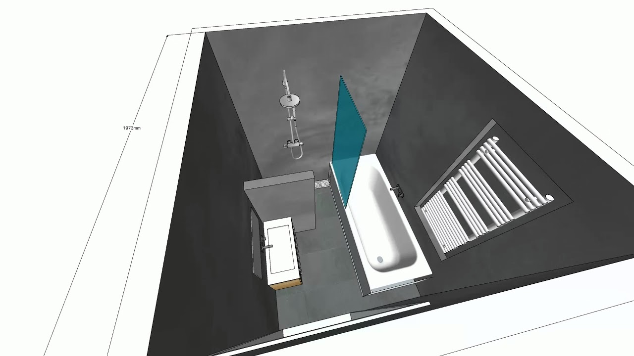 douche H Sketchup - YouTube